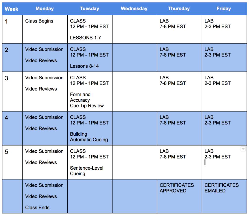 CS200 Course Schedule