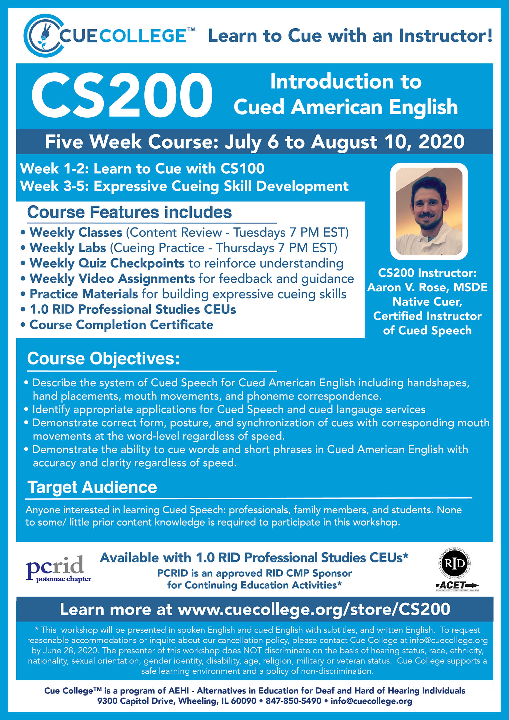 CS101 Instructor Led Course Flyer