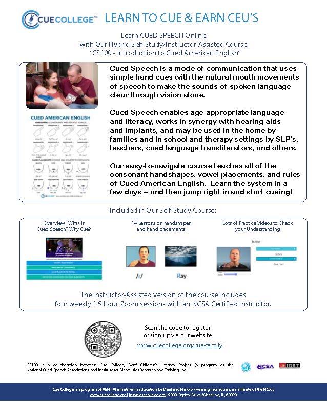 ASHA flyer for CS101